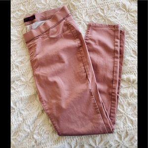 Light Pink Stretch Skinny Jeans Pants, Sz. 11-13